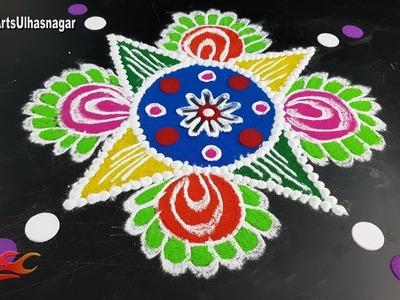 How to make Rangoli | Diwali special Rangoli | JK Arts 1303