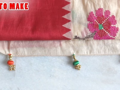 How to Make Saree Kuchu with beads @ Tutorials #5 | Zooltv