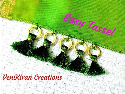 How to Make Saree Tassel.Kuchu design with Beads @ Home - Design 30::Tutorial