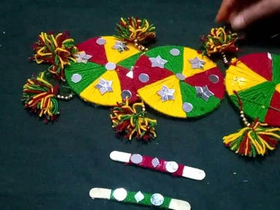 HOW  TO MAKE  TORAN FROM OLD CDS \ DVDS \\ WALL HANGING FROM OLD CDS
