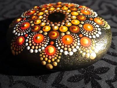 How to paint dot mandalas #26 Pumpkin Spice