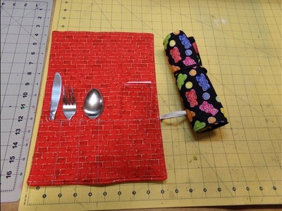 How To Sew A Rollup Silverware Holder W. Bonus Napkin
