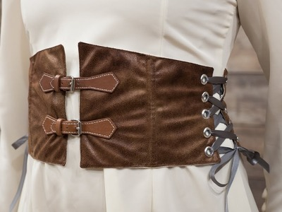 How to Sew a Waist Cincher Belt