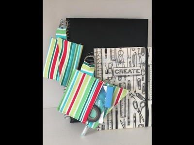 How to sew an envelope wallet. pocket. key ring for a spiral bound notebook or planner