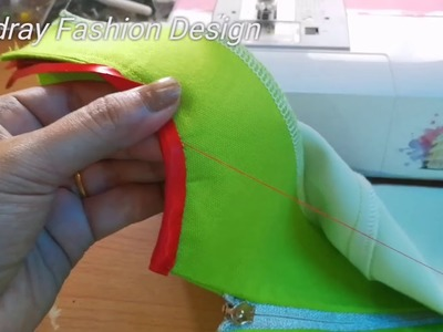 How to sew bias tape on your neckline