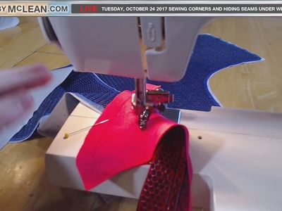 How to Sew Corners and Hide Seams Behind Webs- Made by McLean Live