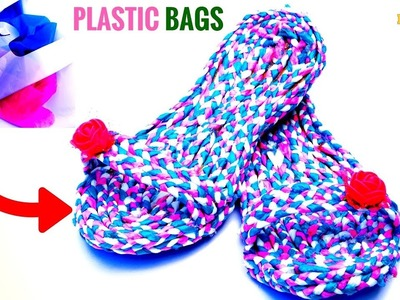 How to | Slippers Using Waste Plastic Bags | Best Out of Waste | DIYCrafts India #99