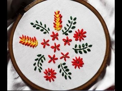 How to Stitch Lazy daisy Stitch Hand Embroidery Tutorial