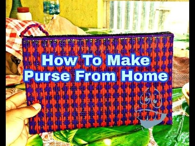 [In Nepali]  How to make Purse from Home with used rice bag