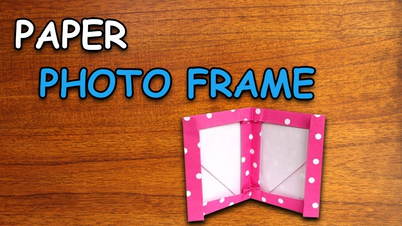 Learn How To Make Paper Photo Frame   Origami For Kids   Periwinkle