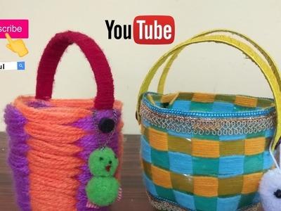 Make mini basket using plastic bottle.How to make plastic bottle basket