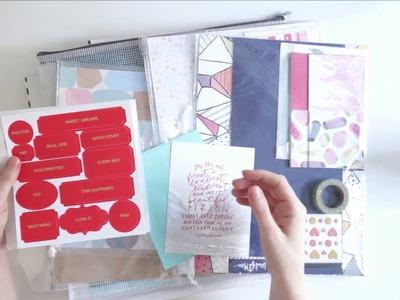 Minimalist Craft Room-  How I destash my scrapbook kits as soon as they arrive