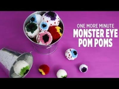 One More Minute: How to Make Monster Eye Pom Poms