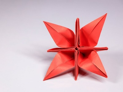 Origami Origami Flower Tutorial How To Make A Simple And Easy