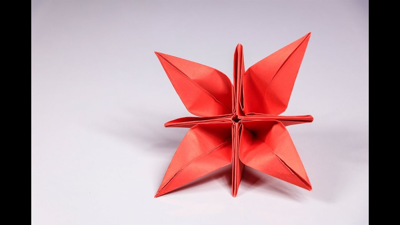 Origami Flower Tutorial How To Make A Simple And Easy Paper Flower