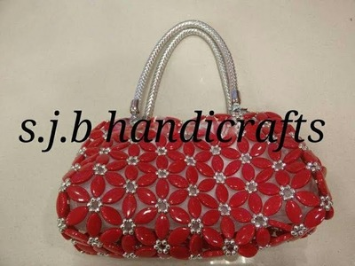 (part:1) how to make a beaded sunflower bag\new ladis bag