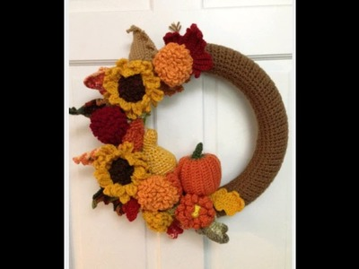 PART 3 IN OUR CROCHET FALL WREATH TUTORIALS: HOW TO CROCHET A HUGE DAISY