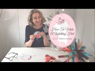 [Part 3 of 6] Vintage Fabric Roses - How To Make A Wedding Fascinator