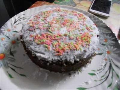 Review. How to make Pillsbury eggless chocolate cooker cake.