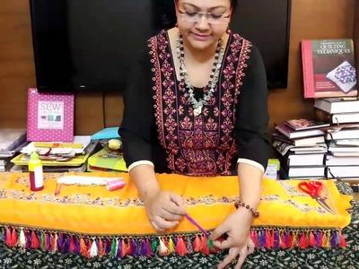 Saree kuchu design. How to make tassel
