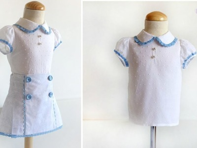 SEWING TUTORIAL:  How to sew a blouse with puffed sleeves for girls STEP BY STEP Do it yourself