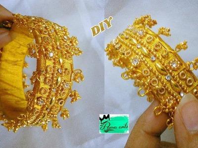 Silk thread unique bangle How to make this unique model bangle | jewellery tutorials
