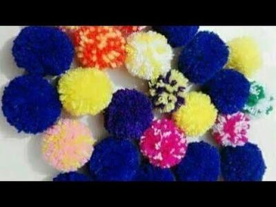 পমপম||উলের পমপম||How to make woolen pompom||pom poms