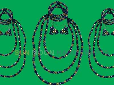 পুতির নেকলেস.How to make beaded necklace.Beaded ornaments