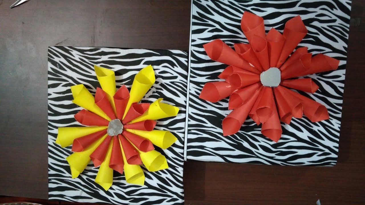 Wall hanging ideas with waste material how to make wall for Wall hanging from waste