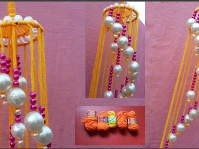 Wind Chime For Room Decor || How to make beaded wind chime for door.wall hanging || Home Decor DIY