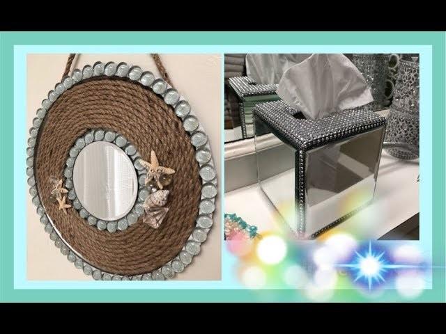 2 DT~ DIY's~ •COASTAL GLAM Tissue Box & Wall Decor •