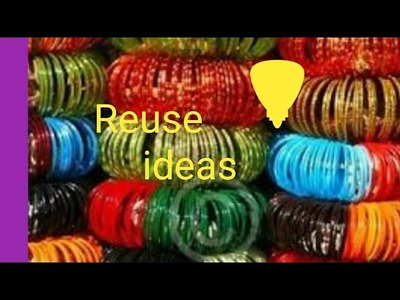 20 types of bangle crafts in home easy way in home.best out of waste.old bangles re-use  ideas