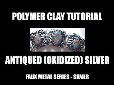 295 - Polymer clay tutorial - Faux silver oxidized jewelry