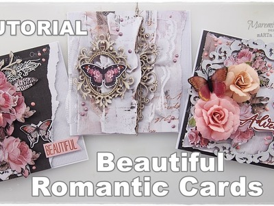 3 Beautiful Romantic Cards Tutorial ♡ Maremi's Small Art ♡