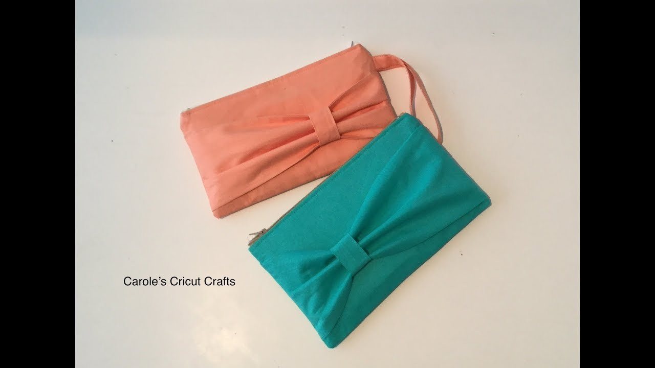 A BOW CLUTCH with Cricut Maker. HOW TO