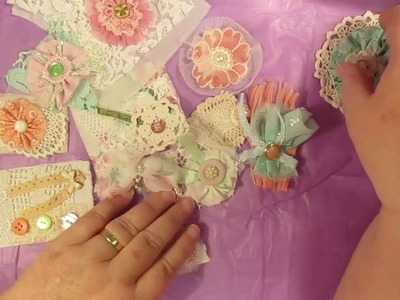 Bits I made for my fabric journal