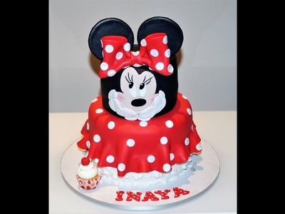 Cake decorating tutorials | how to make a MINNIE mouse cake | Sugarella Sweets