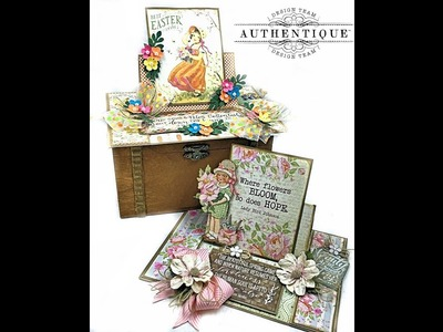 Center Step Easel Card Tutorial and Project Share with Authentique Jubilee Collection Kit