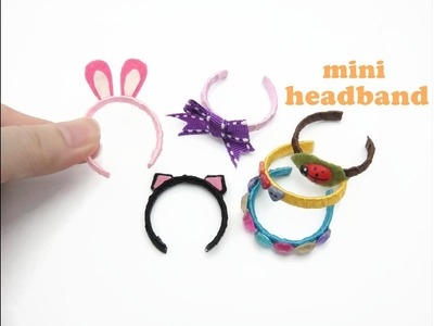 DIY Miniature Doll Mini Headband - Very Easy!