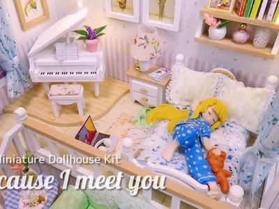 DIY Miniature Dollhouse Kit | Because I Meet You | ミニチュアドールハウスキット作り ロフト付のお部屋