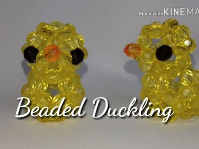 DIY simple and easy BEADED DUCKLING.