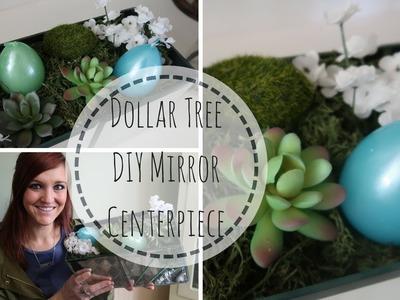 DOLLAR TREE DIY DECOR  | MIRROR CENTERPIECE | EASY SUCCULENT DIY | SPRING TIME DIY | BUDGET FRIENDLY