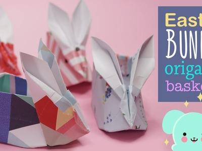 Easter Bunny Origami Basket  EZPZ Ideas