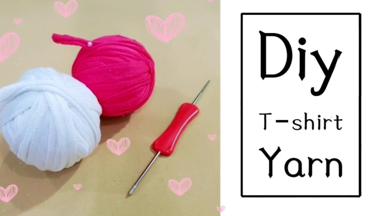 Easy upcycle | DIY T–Shirt Yarn | you can use them to crochet❤❤