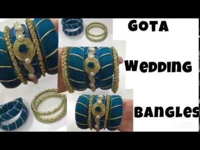 Gota Bangles Making tutorial || Handmade Gota bangles part 5