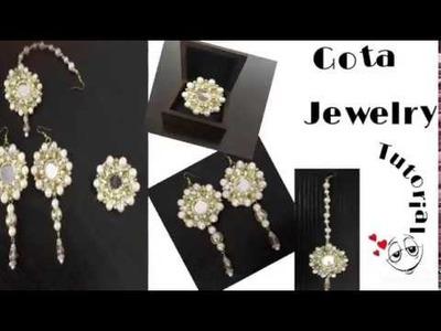 Gota jewelry tutorial || Gota Jewelry Very easy and simple design .