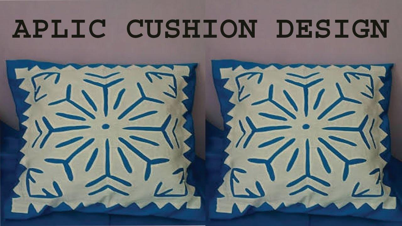 Hand embroidery.aplic work cushion design tutorial.rilli work