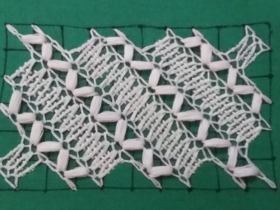 Hand embroidery of lace type pattern.Its easy and beautiful.