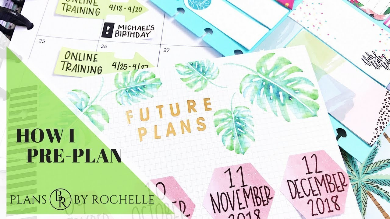 How I Pre-Plan: Collab with The A.D.D Planner | Plans by Rochelle