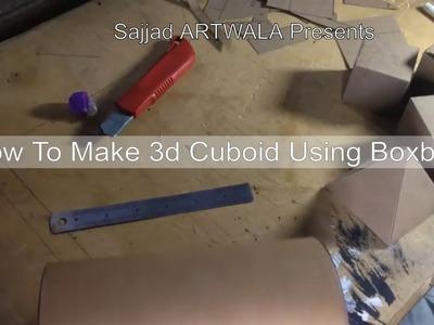 How to make 3d cuboid,How to make 3d Cuboid Using Boxboard